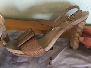 Dorothee Schumacher Platform High-Heeled Sandal bronze-colored leather
