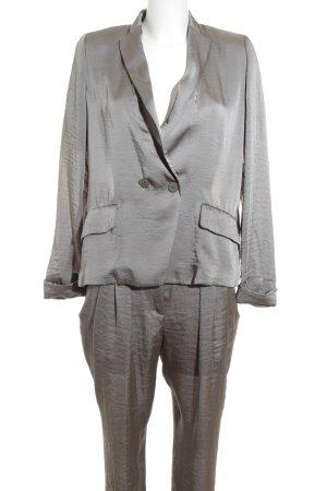 Schumacher Tailleur-pantalon argenté style d'affaires