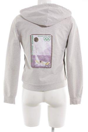 Schumacher Maglione con cappuccio grigio chiaro stile atletico