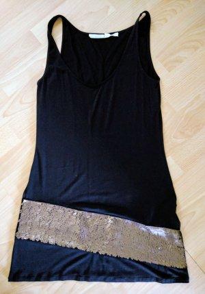 SCHUMACHER Kleid Empire mit Goldsaum