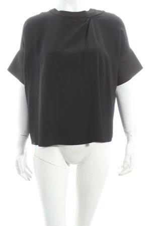 Schumacher Kurzarm-Bluse schwarz schlichter Stil