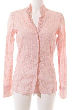 Schumacher Langarm-Bluse rosa-weiß Streifenmuster klassischer Stil