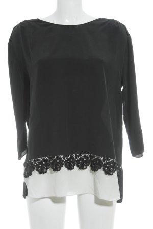 Schumacher Langarm-Bluse schwarz-weiß Elegant