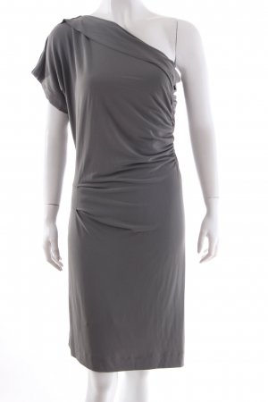 Schumacher One Shoulder Kleid grau