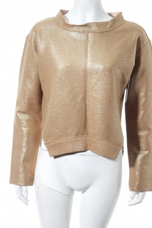 Schumacher Pullover goldfarben Metallic-Optik