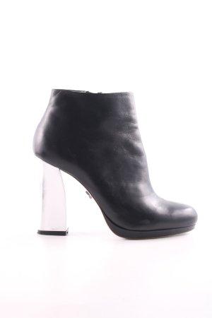 Schumacher Reißverschluss-Stiefeletten schwarz-silberfarben Elegant
