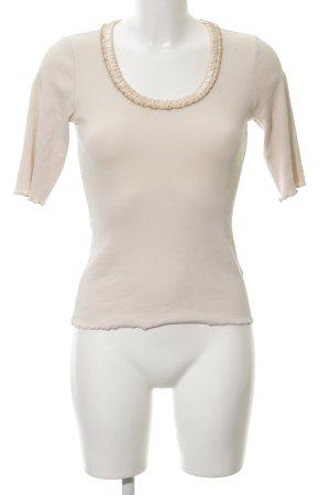 Schumacher Camisa acanalada crema elegante