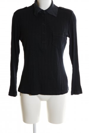 Schumacher Ribbed Shirt black casual look