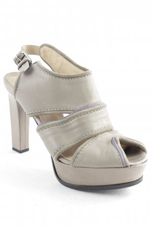 Schumacher High-Heeled Sandals sage green-grey elegant