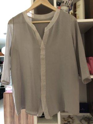 Schumacher Lange blouse grijs-bruin-grijs