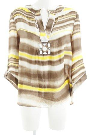 Schumacher Zijden blouse abstract patroon casual uitstraling