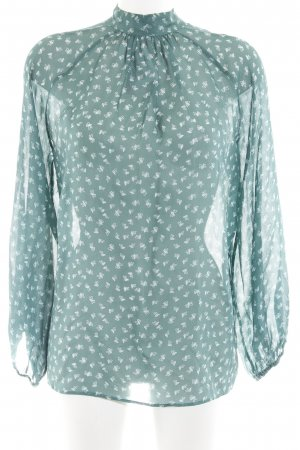 Schumacher Seidenbluse kadettblau abstraktes Muster Business-Look