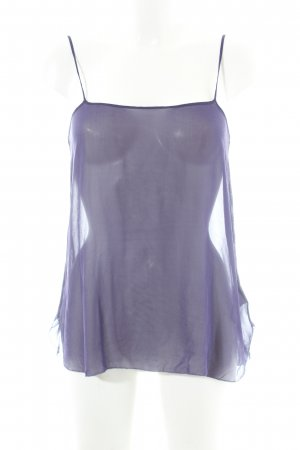 Schumacher Top in seta viola scuro stile casual