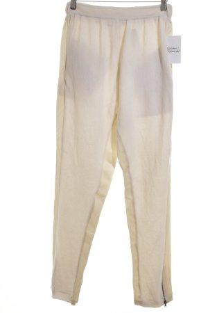 Schumacher Stoffhose creme-wollweiß extravaganter Stil