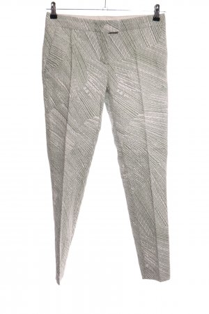 Schumacher Stoffen broek wolwit-khaki volledige print zakelijke stijl