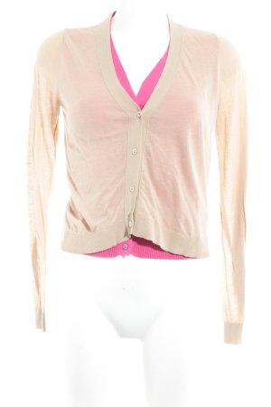 Schumacher Strick Cardigan camel-pink Casual-Look