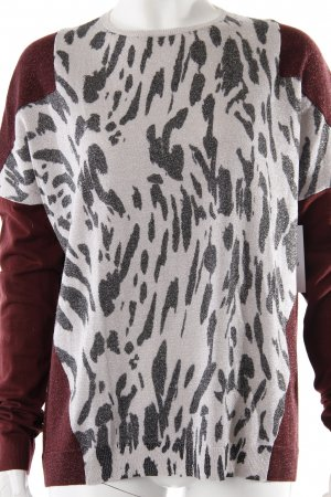 Schumacher Strickpullover Animalprint bordeauxrot