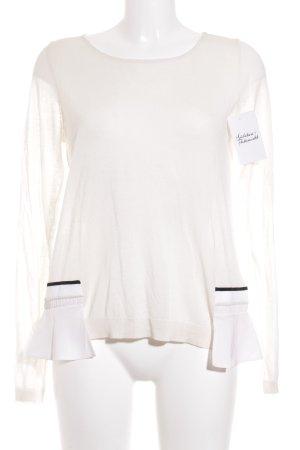 Schumacher Strickshirt hellbeige-schwarz Elegant