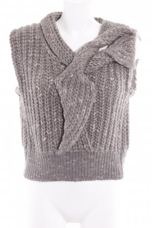 Schumacher Knitted Top grey flecked fluffy