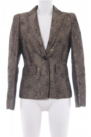 Schumacher Sweatblazer schwarz-goldfarben Business-Look