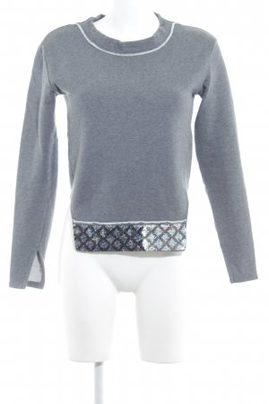 Schumacher Sweatshirt grau-wollweiß schlichter Stil