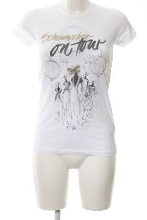Schumacher T-Shirt Motivdruck Casual-Look