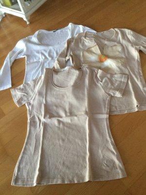 Schumacher T Shirt Paket weiss und beige in Größe S