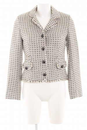 Schumacher Tweedblazer wollweiß-braun Allover-Druck Casual-Look