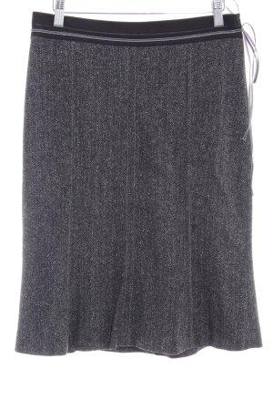 Schumacher Tweed rok zwart-grijs visgraatmotief elegant