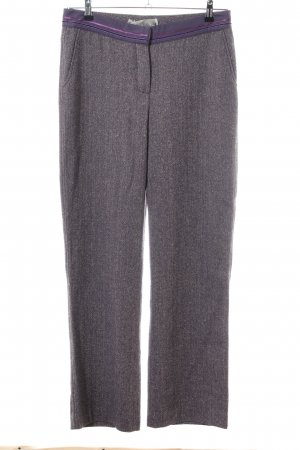 Schumacher Wollhose hellgrau-lila meliert Business-Look