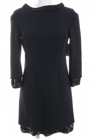 Schumacher Wollkleid schwarz-bronzefarben Elegant