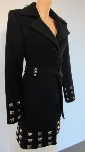 Schunk & Rosenfeld Wollen jas zwart-zilver