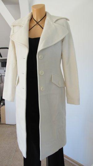 Heine Abrigo de lana blanco puro Lana