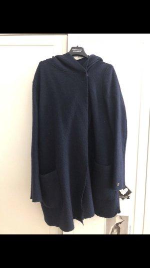 Marc O'Polo Wollen jas donkerblauw Scheerwol