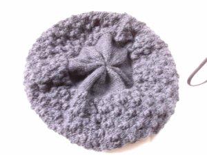 hessnatur Casquette gavroche gris anthracite-noir laine