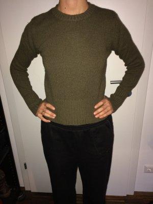 H&M Maglione di lana grigio-verde Lana