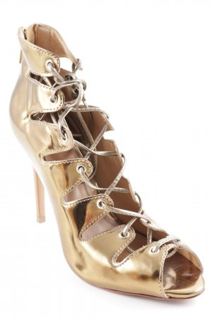 "Schutz High Heel Sandal ""SPF Chio Bronze "" gold-colored"