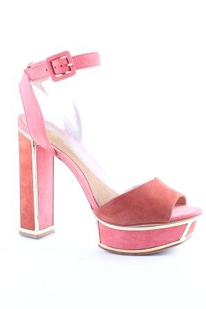 Schutz Sandales à talons hauts et plateforme multicolore style extravagant