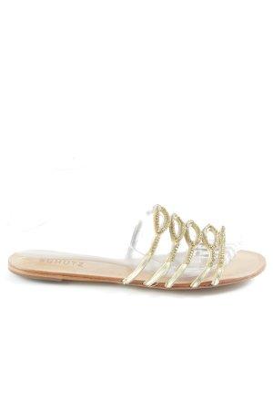 Schutz Riemchen-Sandalen beige-goldfarben Beach-Look
