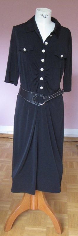 schw. Kleid von Basler inkl. Basler Gürtel, schwarz/silber (38/90 echtes Leder)