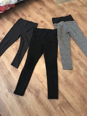 H&M Jeans slim noir-blanc