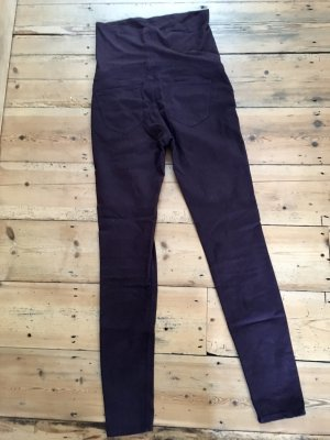 H&M Stretch Trousers bordeaux