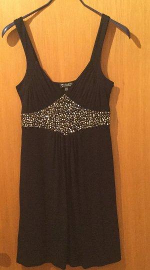 schwares kurzes Kleid mit Pailletten