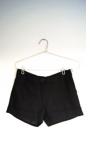 Schwarte Shorts aus dickem Anzugstoff