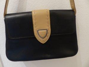 schwarz beige Handtasche / Henkeltasche von Marina Galanti - wie neu