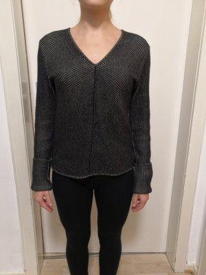 Schwarz Beige melierter Pullover Armani Jeans