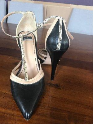 Schwarz/ Beige Pumps High Heels