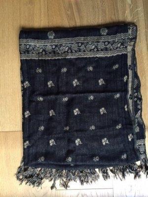 Schwarz beiger Schal mit Muster