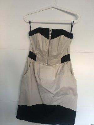 Schwarz/Beiges Kleid