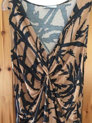 Schwarz/ beiges Kleid in Größe M/L